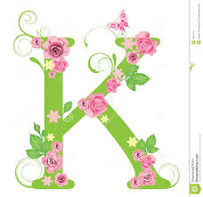 Letter K With Roses Stock Vector Illustration Of Graphic 7967414
