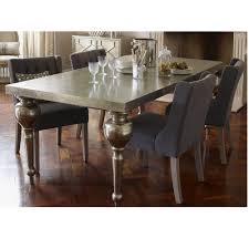Dubai Silver Hand Embossed Rectangular Metal Dining Table