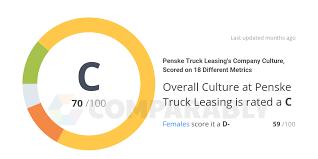 100 Truck Leasing Company Penske S Culture Scored On 18 Different