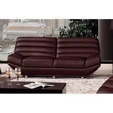 canapé sofa italien canapé 3 places en cuir italien william gris foncé 2 places