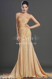 gold illusion batuau neck bodycon chiffon evening dress idress