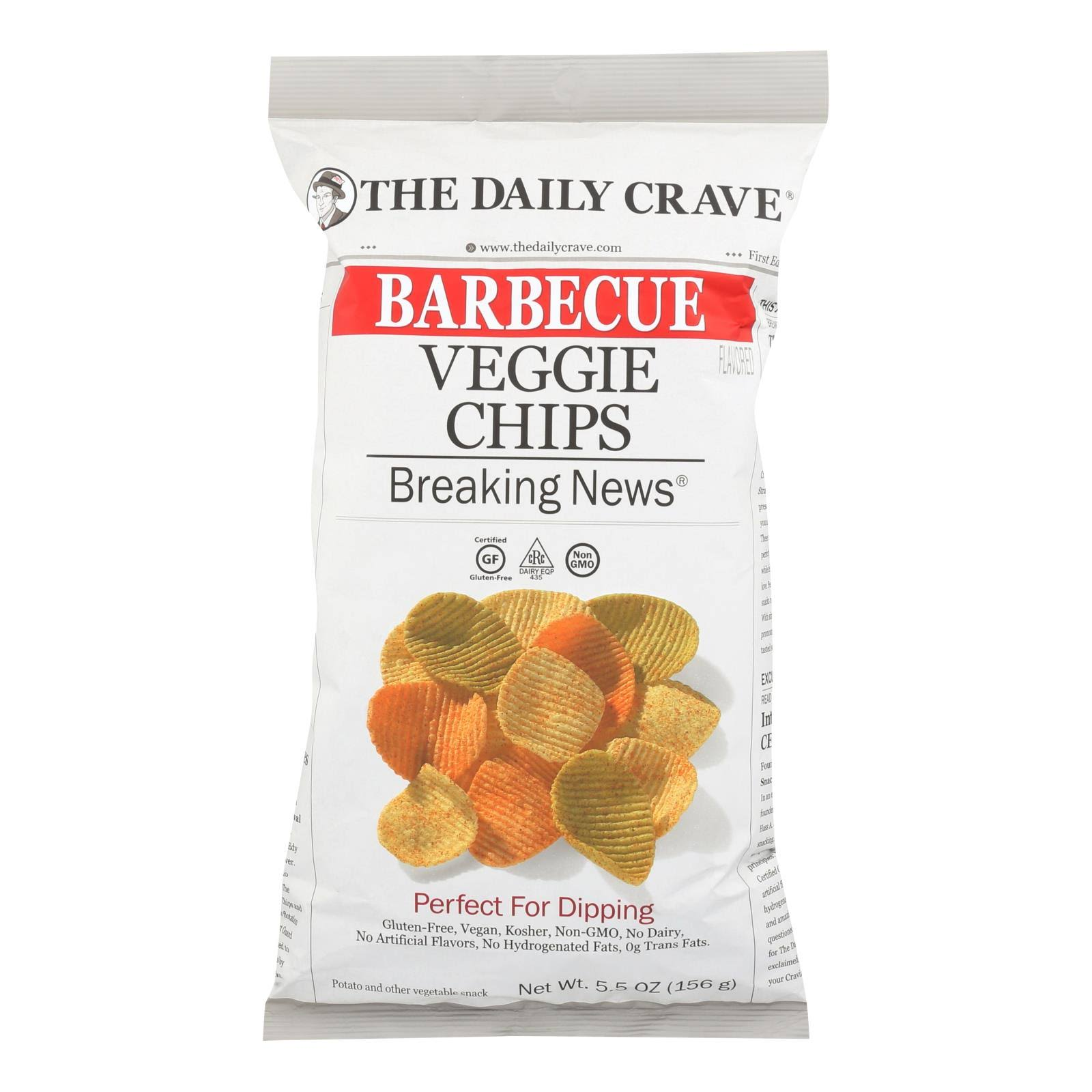 The Daily Crave Veggie Chips, Barbecue Flavored - 5.5 oz