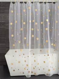 Gold And White Sheer Curtains by Sheer Shower Curtains Fabric Curtains Design Gallery Sheer White
