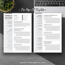 Best Selling Office Word Resume CV Templates Cover Letter References For Digital Instant Download The Pamela
