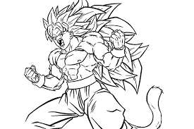 Dragon Ball Z Coloring Pages Goku Super Saiyan 4