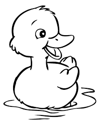 Duck Coloring Pages Free Baa Is For Batta