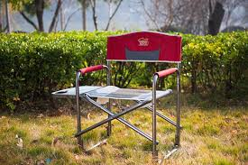 Portable Directors Chair by Timber Ridge Aluminum Folding Director Chair With Side Table