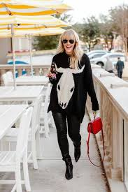 The Courtney Kerr Blogger Sweater Jeans Shoes Bag