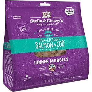 Stella and Chewy's Freeze-Dried Cat Food - Sea-Licious Salmon and Cod Dinner, 3.5oz