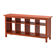 ikea hemnes sofa table red brown solid wood has a natural