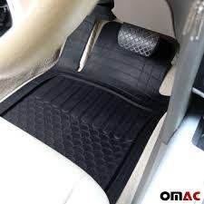 100 Heavy Duty Truck Floor Mats OMAC Car For All Weather Rubber Semi Custom Black