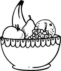 Fruit black and white bowl of fruit clipart black and white clipartfest