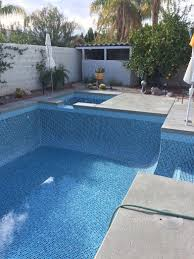 Waterline Pool Tile Designs by Home Desert Glass Pools Inc