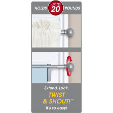 No Drill Curtain Rods Uk by Twist And Shout Smart Curtain Rod Hardware Walmart Com