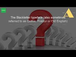 What Is A Blackletter Font