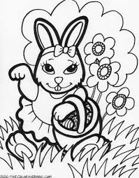 Easter Coloring Pages For Kids Printable Happy 2017 Best Of