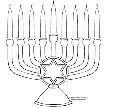 Free Printable Hanukkah Menorah Coloring Page By Elizabeth Dulemba