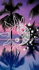 Tumblr California Draw Palm Tree Shadow Sun Ying Yang