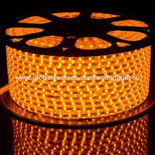 5050 LED rope light orange color 6mm width PCB AC 220V AC110V