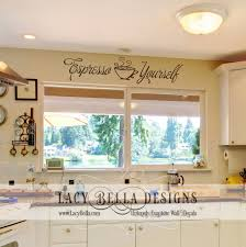 Espresso Yourself Kitchen Vinyl Decal Over Sink Window Decor Lettering