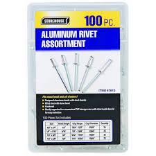 100 aluminum blind rivet assortment with