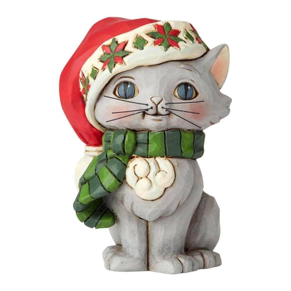 Jim Shore Christmas Kitten Mini Figurine
