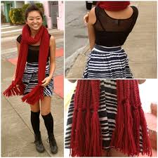 alexis yip cotton on red knit scarf h u0026m mesh bodycon dress h u0026m