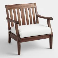 Wood St Martin Occasional Chair with Cushion