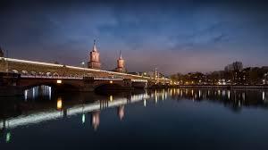 100 Water Bridge Germany HD Wallpaper Night Bridge The City Lights River