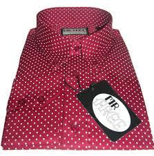 shirt micro dot mod red white men u0027s casual mr free u2013 cxlondon com