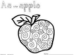 Aa Is For Apple Coloring Pages