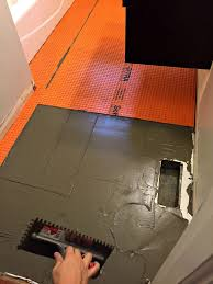 Schluter Ditra Tile Underlayment by Orc Week 2 Tile And Shiplap Installation Semigloss Design