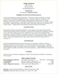 General Labor Resume Sample Examples Laborer Objective 4 Outline
