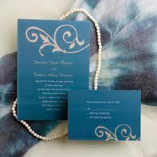 Simple Floral Blue Wedding Invitations EWI033 As Low 094