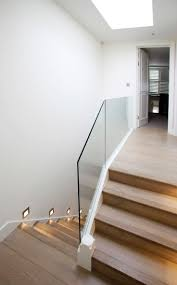 Stairs. Amusing Stair Banisters: Stair-banisters-glass-staircase ... Modern Glass Stair Railing Design Interior Waplag Still In Process Frameless Staircase Balustrade Design To Lishaft Stainless Amazing Staircase Without Handrails Also White Tufted 33 Best Stairs Images On Pinterest And Unique Banister Railings Home By Larizza Popular Single Steel Handrail With Smart Best 25 Stair Railing Ideas Stairs 47 Ideas Staircases Wood Railings Rustic Acero Designed Villa In Madrid I N T E R O S P A C