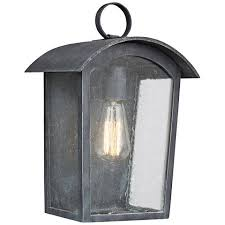 feiss hodges 13 3 4 high ash black outdoor wall light 18y17