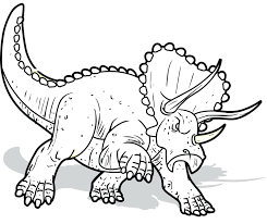 Dinasaur Coloring Pages Triceratops Dinosaurs For Kids Printable Dinosaur