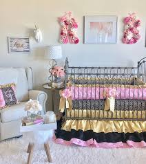 Baby Girl Crib Sets Pink and Gold Luxury Crib Bedding Ritzy