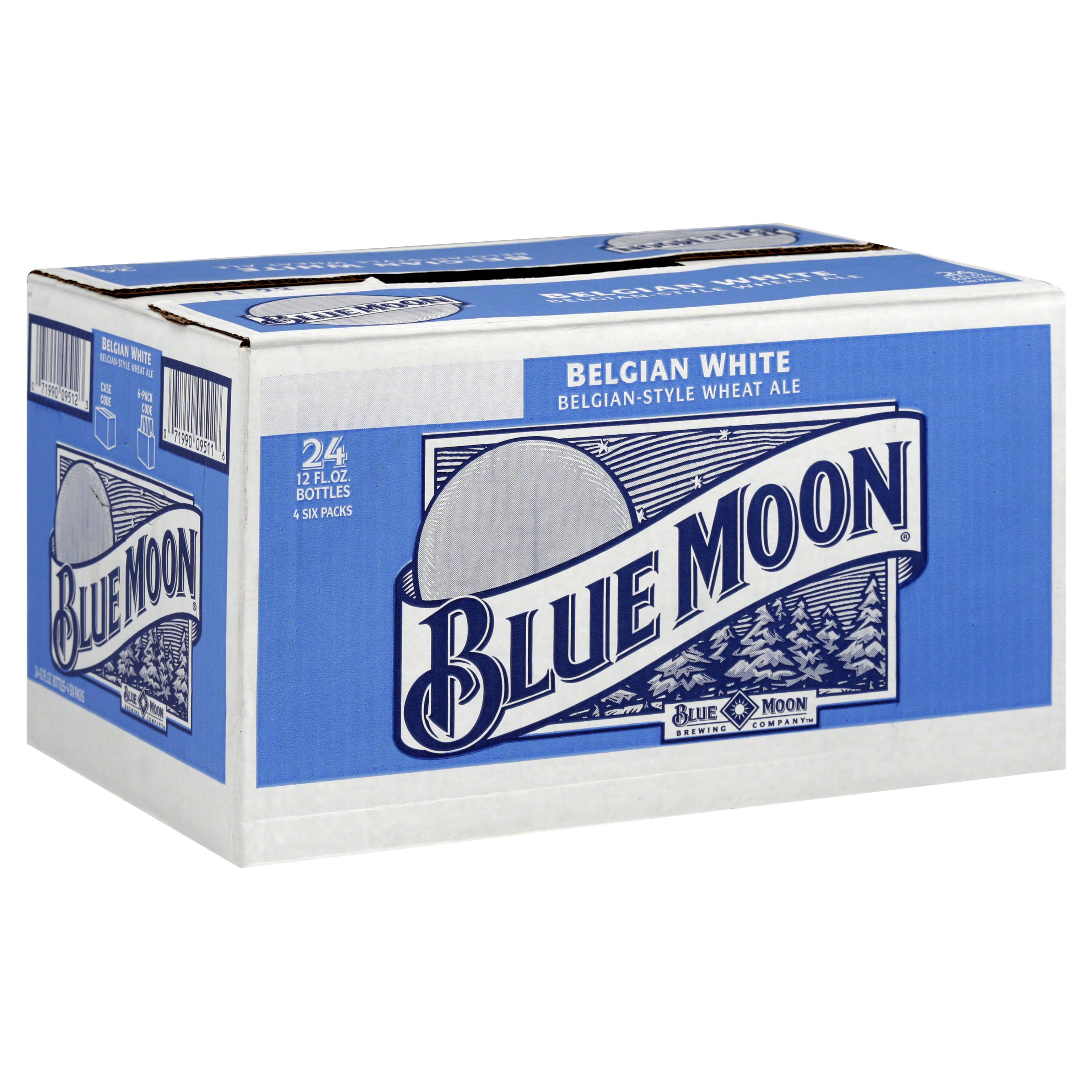 Blue Moon Ale, Wheat, Belgian White - 24 pack, 12 fl oz bottles