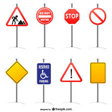 Traffic Signs Vectors s and PSD files