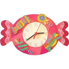 horloge chambre bébé décoration chambre fille thème bonbons billes de clowns