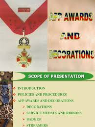 Awards And Decorations Us Army by Afp Awards And Decorations Ppt