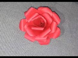How To Make Paper Rose Flowers Easy