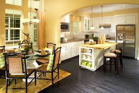 blue kitchen cabinets yellow walls