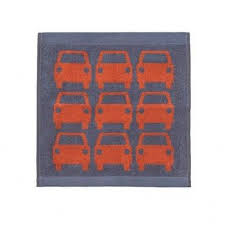 Cars Bathroom by Orla Kiely Nz Kids Jacquard Towels