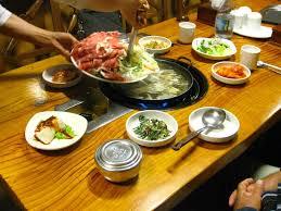 cuisine cor du sud fondue coréenne dans un restaurant traditionnel de séoul corée du sud
