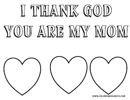 Coloring Mothers Day Sheets