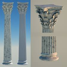 3D Greek Corinthian Column Model 3D Model