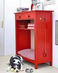 country white room style focused on minimalist red ikea hemnes