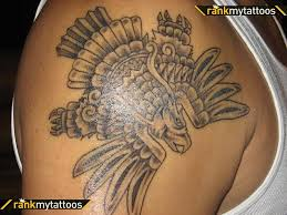 Attractive Aztec Tattoo Design On Shoulder